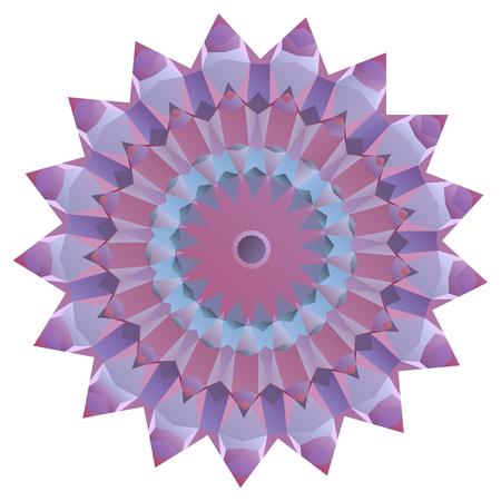 to reassure: Nice symmetrical mandala isolated on white background