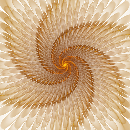 trance: Abstract fractal floral shapes on white background