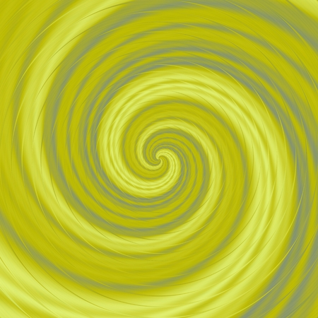 Abstract nice crazy spiral in yellow color