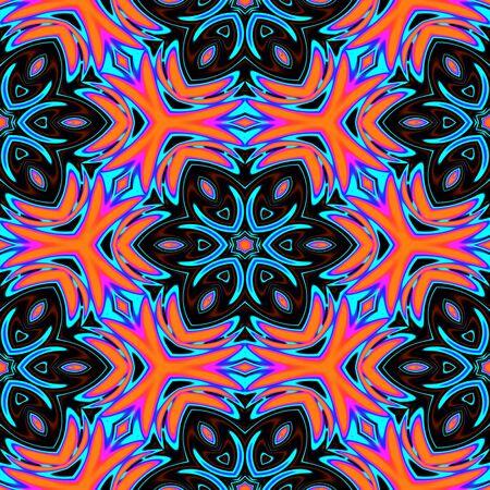 trance: Seamless pattern with abstract motif like a kaleidoscope
