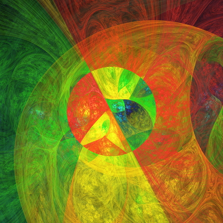 murky: Abstract surreal fractal shapes as psychedelic background Stock Photo