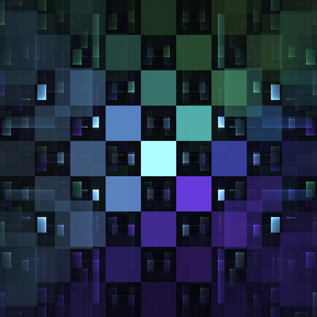 nice background: Abstract bluish fractal squares as nice background