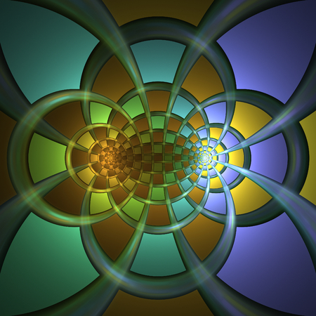 poetical: Nice abstract fractal shapes on black background