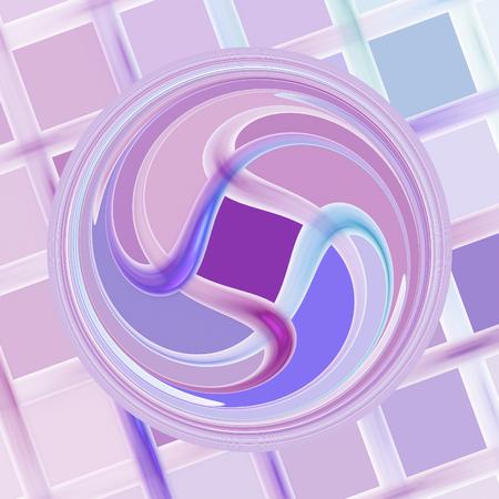 mauve: Abstract mauve fractal shape on white background Stock Photo