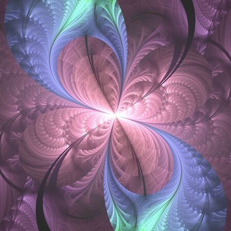 hoarfrost: Trendy abstract flourish shape as nice background