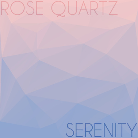 serenity: Blend of colors rose quartz and serenity in triangular style Stock Photo