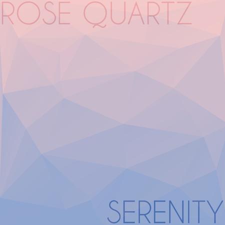 quartz: Blend of colors rose quartz and serenity in triangular style Stock Photo