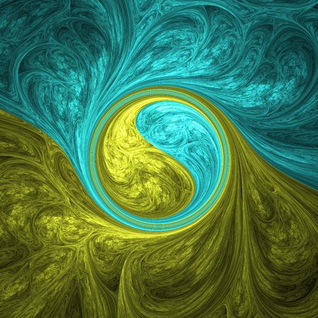 サイケデリックな背景としてクレイジー フラクタル図形を抽象化します。 写真素材