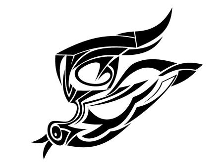 disengagement: Black bird in flying isolated on white background Illustration