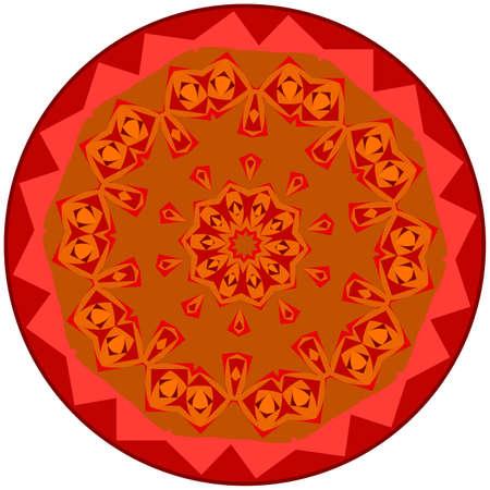 reddish: Reddish small mandala located on white background Illustration