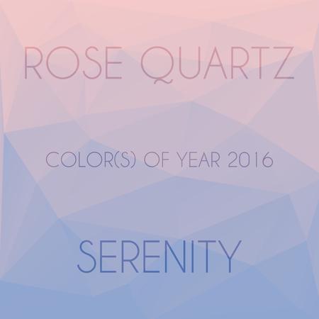 quartz: Blend of colors rose quartz and serenity in triangular style Illustration