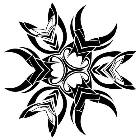 symmetrical: Black symmetrical shape isolated on white background