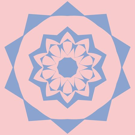 pinkish: Nice mandala made by two trendy colors Illustration