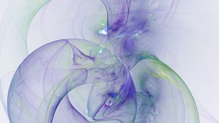 hallucinatory: Abstract blue fractal shapes on white background Stock Photo