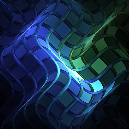 hallucinatory: Abstract fractal background made by many waves Stock Photo