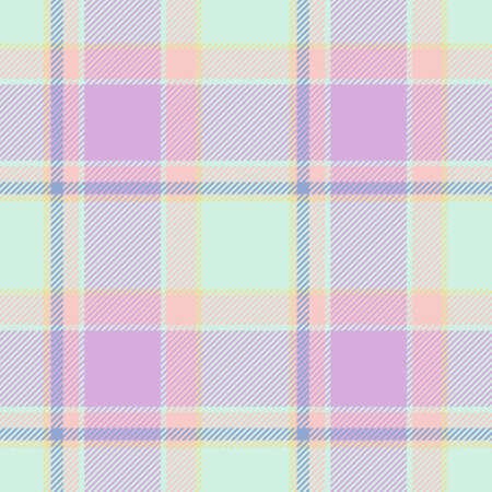 pinkish: Tile of colorful tartan as seamless pattern Stock Photo
