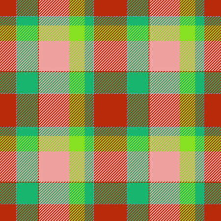 seamless tile: Tile of colorful tartan as seamless pattern Stock Photo