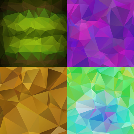 rumple: Set of abstract wallpapers with triangular pattern
