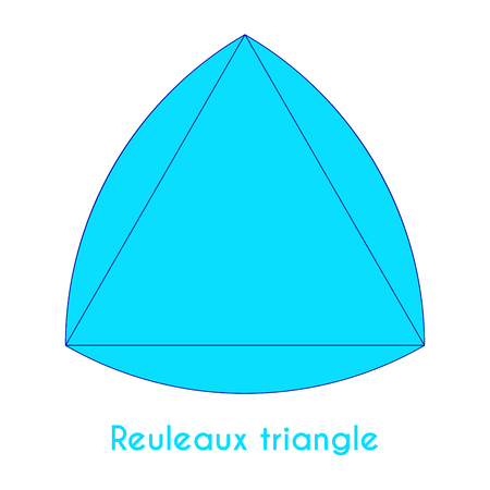 caption: Light blue reuleaux triangle with short caption