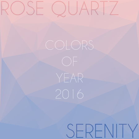 serenity: Blend of colors rose quartz and serenity in triangular style Illustration