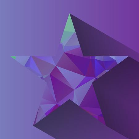 rumple: Nice abstract triangular star with long shadow Illustration