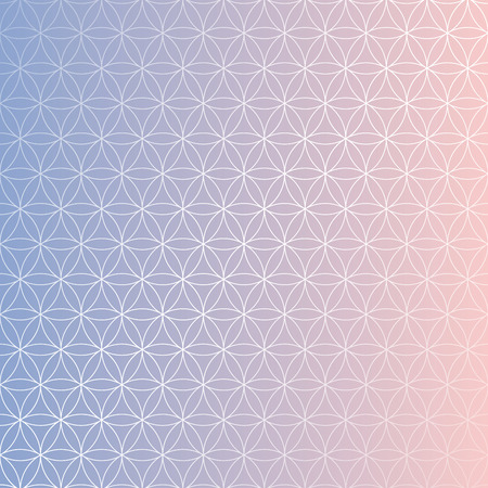 Gradient in trendy colors with flower of life pattern
