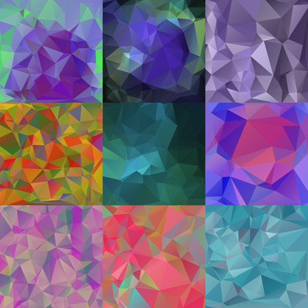 crinkle: Set of abstract wallpapers with triangular pattern