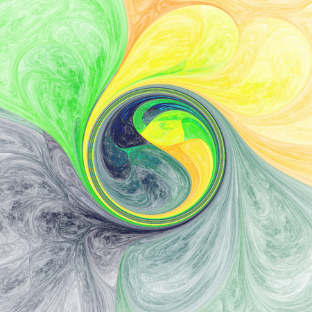 psychedelic background: Abstract crazy fractal shapes as psychedelic background