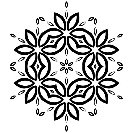 thrive: Black symmetrical shape isolated on white background