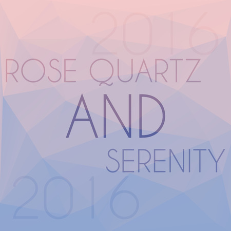 blend: Blend of colors rose quartz and serenity in triangular style Illustration