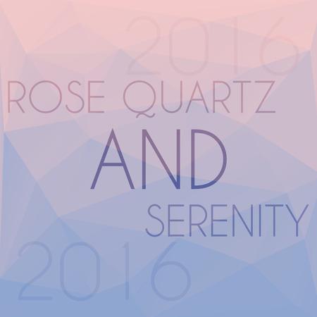rose quartz: Blend of colors rose quartz and serenity in triangular style Illustration