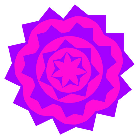 pinkish: Mauve small mandala located on white background