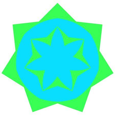 greenish: Greenish small mandala located on white background