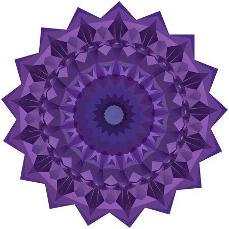 symmetrical: Nice symmetrical mandala isolated on white background
