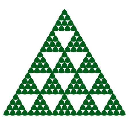 phantasy: Fractal design in Sierpinski triangle style made by reuleaux triangles