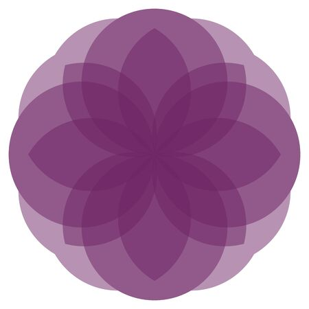 phantasy: Cute nice symmetric floral mandala in violet colors