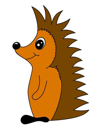 anthropomorphous: Small cartoon hedgehog illustration for children and so on Illustration