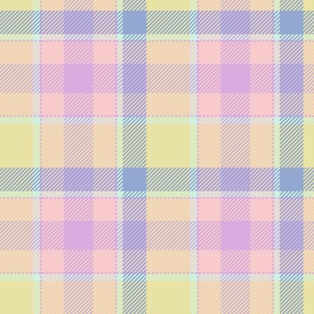 strip structure: Tile of colorful tartan as seamless pattern Stock Photo