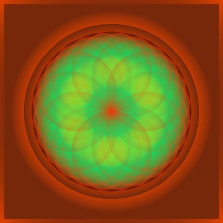 phantasy: Cute nice symmetric floral mandala in many colors