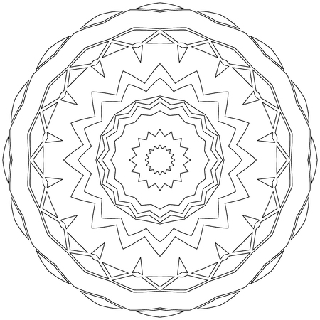 easing: Black symmetric mandala like a adult coloring page Illustration