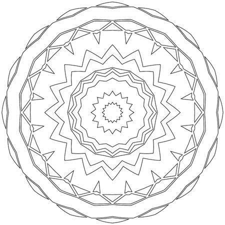 disengagement: Black symmetric mandala like a adult coloring page Illustration
