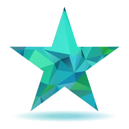rumple: Abstract lovely colored star with triangular pattern Illustration