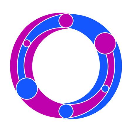 symbolism: Fictitious symbol like a eternity symbol based on Yin Yang symbolism