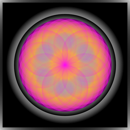 symmetric: Cute nice symmetric floral mandala in dark colors