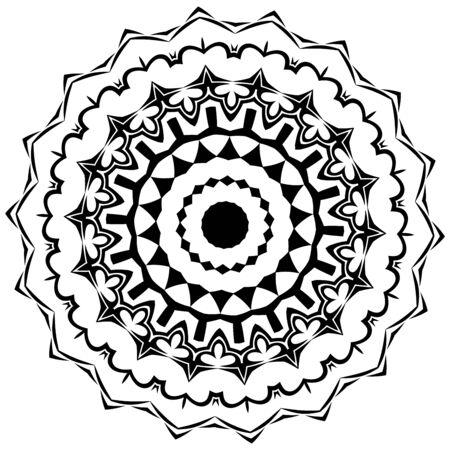phantasy: Nice symmetric mandala in black and white colors