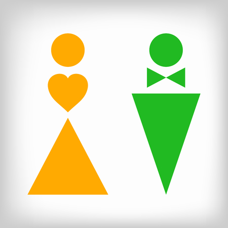 Two Symbols Of Gender In Two Colors Royalty Free Cliparts Vectors