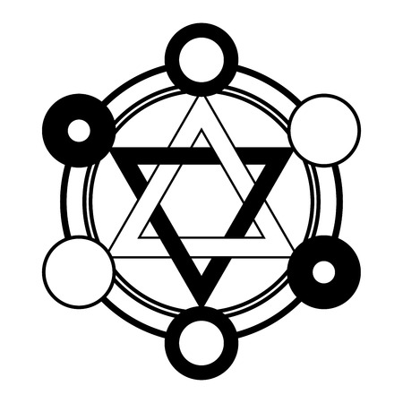 fable: Fable six pointed star symbol in black and white colors