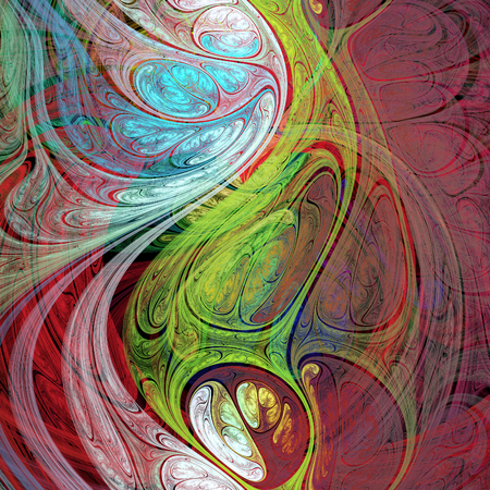 Bizarre abstract crazy hallucinatory image as wallpaper