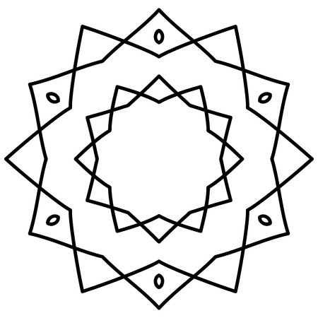 starlit: Simple mandala in black and white color
