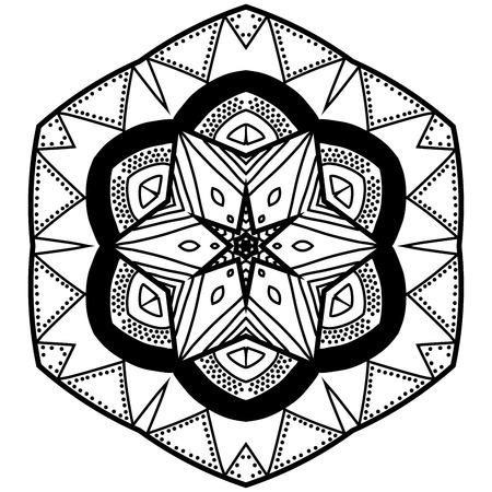 Mandala With Hand Drawn Patterns Mandala In Zendoodle Style Mesmerizing Zendoodle Patterns